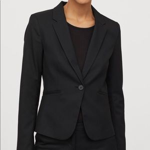 H&M Never-Worn Fitted Black Blazer | Size 4